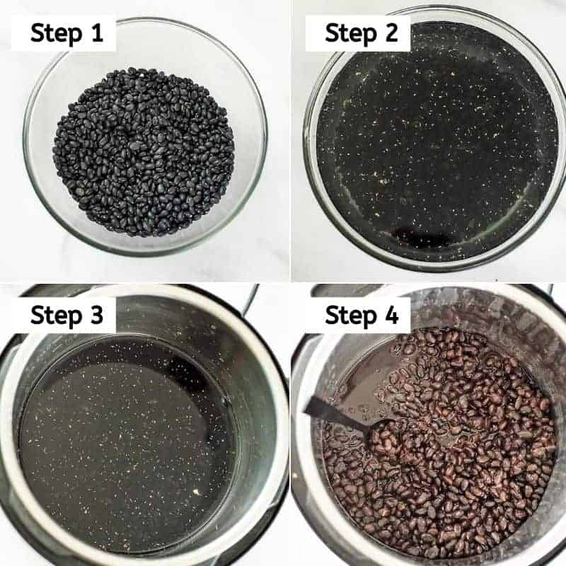 Steps on how to cook black beans no soaking