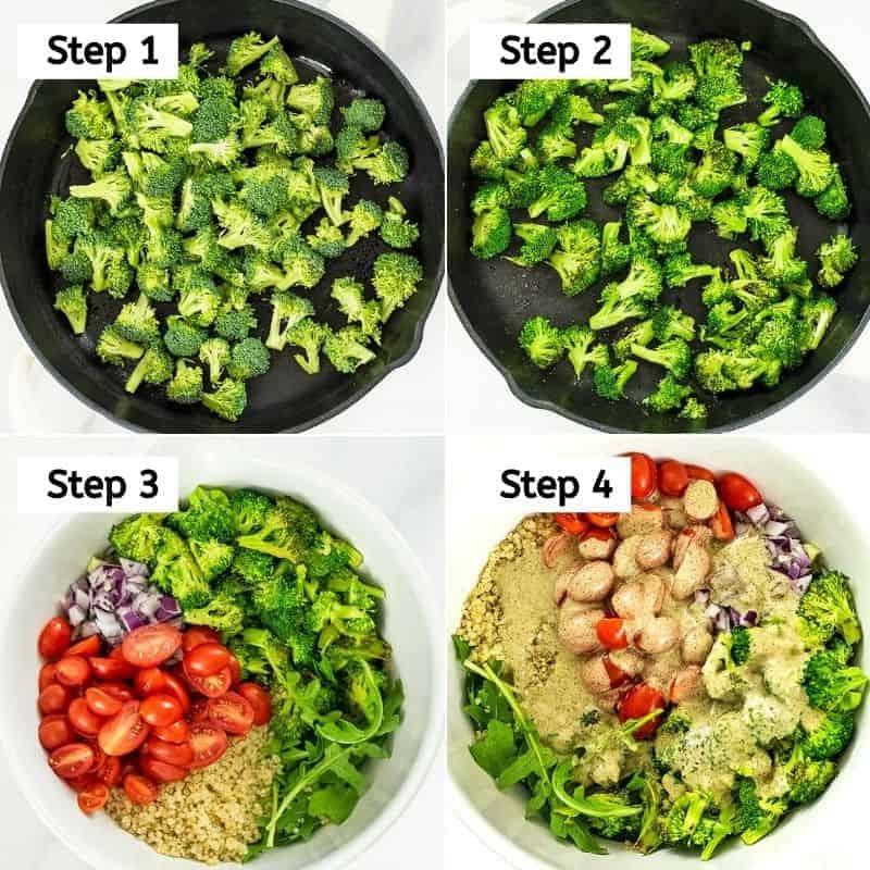 Steps on how to make Italian quinoa salad