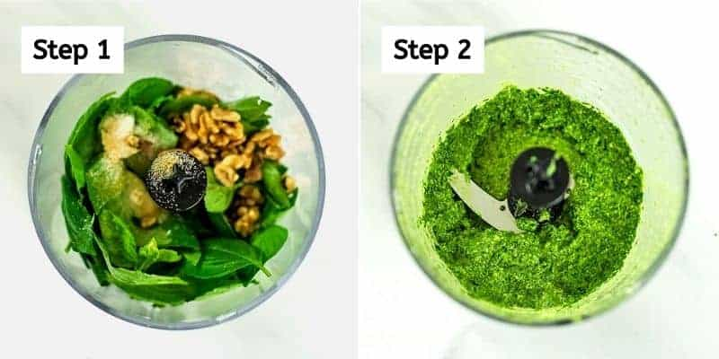 How to make spinach walnut pesto.