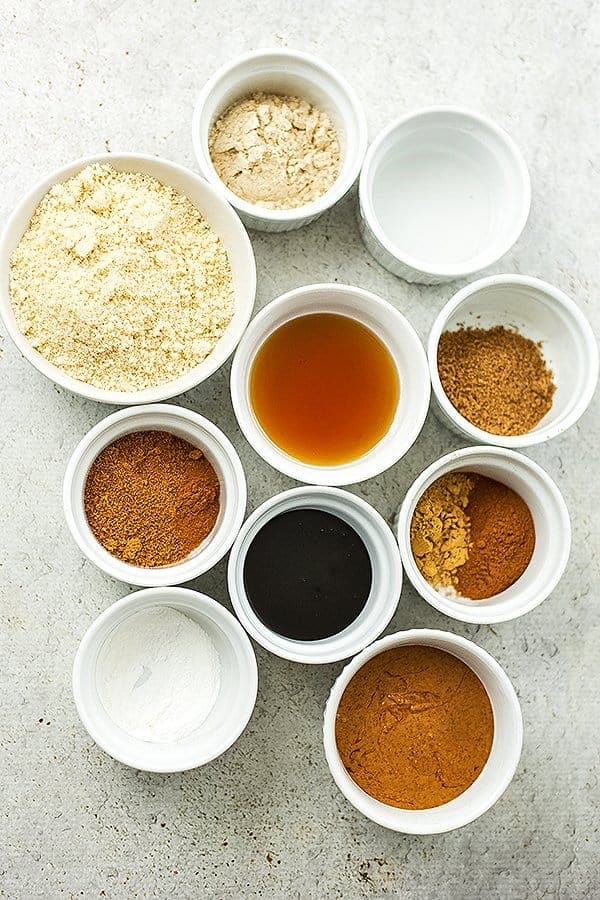 Ingredients for paleo molasses cookies.