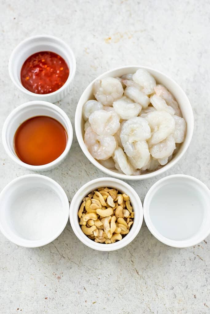 Ingredients to make bang bang shrimp.