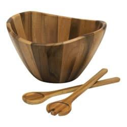 Brown Wooden Salad Bowl