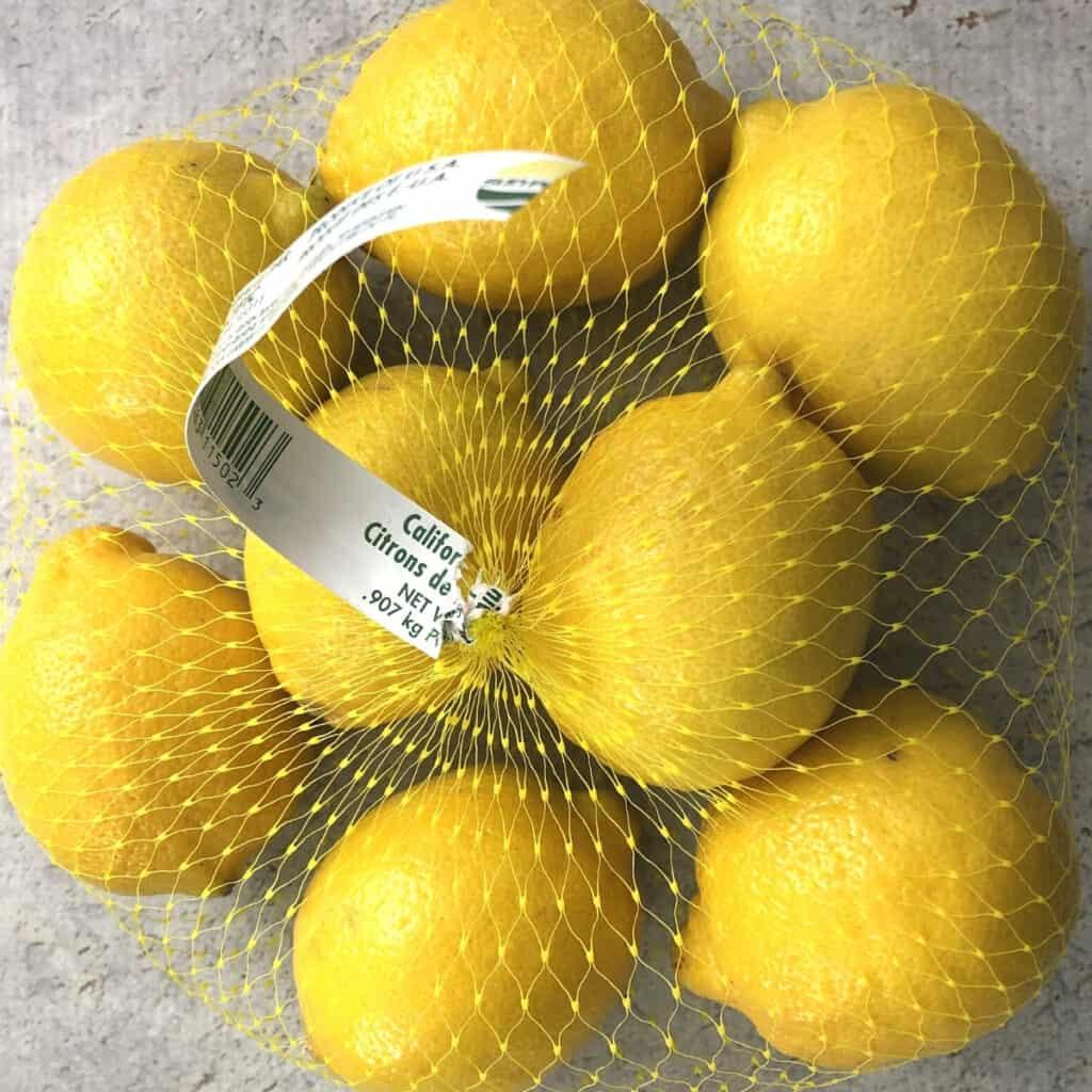 Bag of lemons.