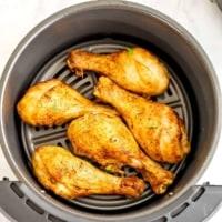 Chicken drumsticks in the air fryer.