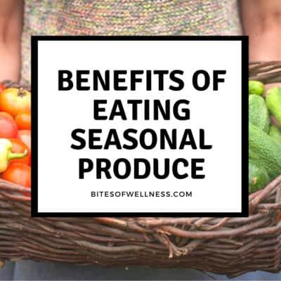 benefits of eating seasonal produce sign