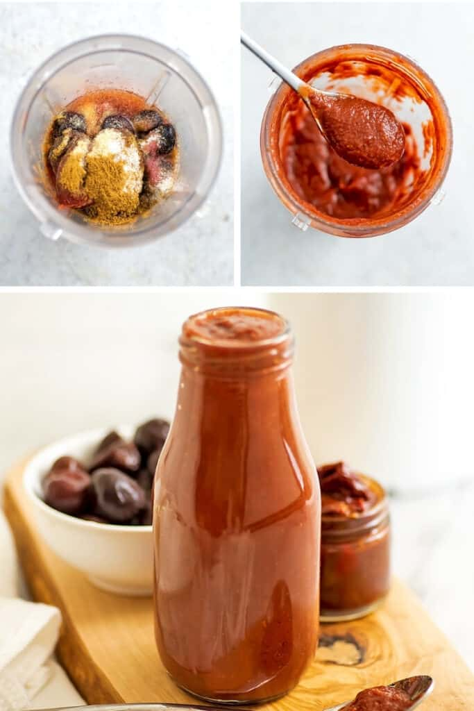 Steps on how to make chipotle cherry bbq sauce.