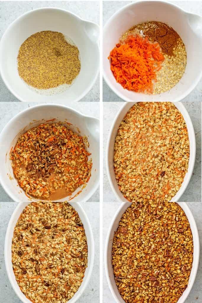 How to make baked carrot cake oatmeal.