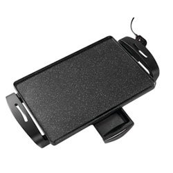 A black non-stick electrical griddle