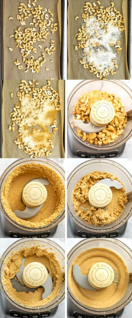 Steps on how to make cashew coconut butter.