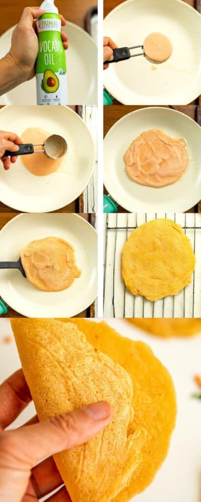 Steps on how to make lentil flatbread.