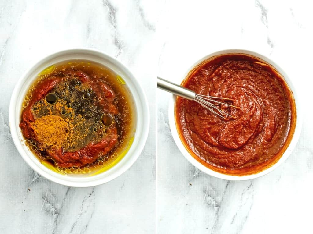 Steps to make low FODMAP ketchup.