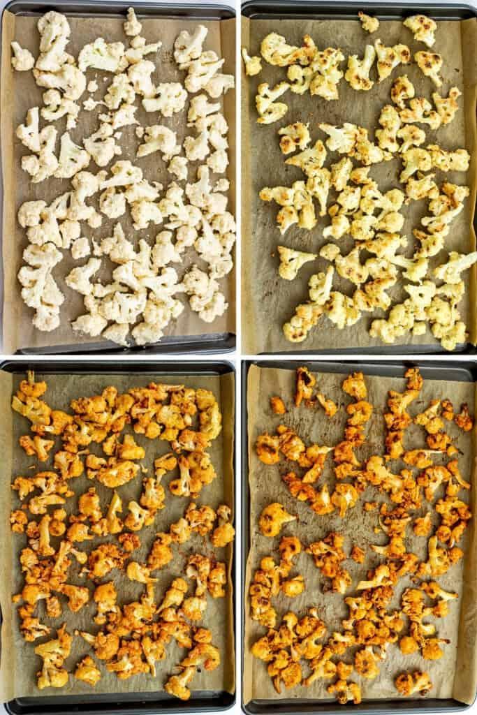 Steps to make buffalo cauliflower.