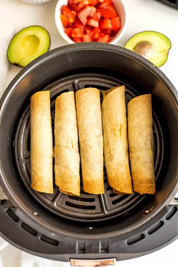 Gluten free taquitos in air fryer.